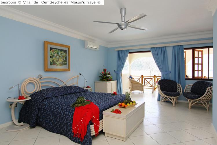 bedroom Villa de Cerf Seychelles Mason's Travel
