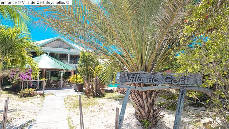 entrance Villa de Cerf Seychelles