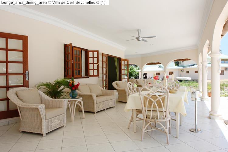 lounge area dining area Villa de Cerf Seychelles