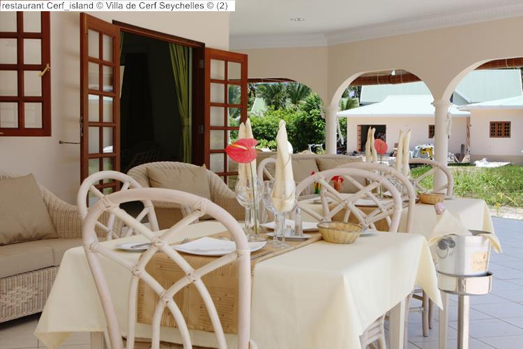 restaurant Cerf island Villa de Cerf Seychelles