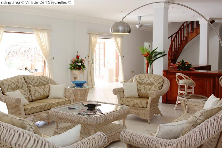 sitting area Villa de Cerf Seychelles