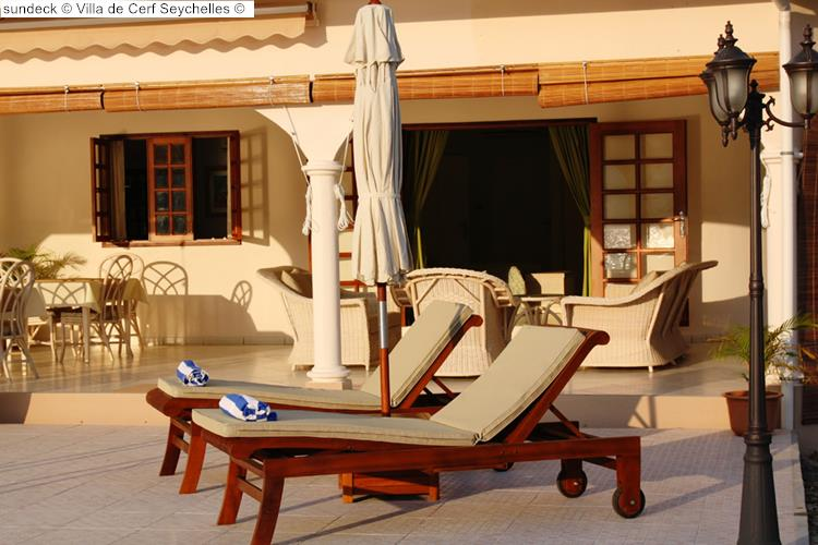 sundeck Villa de Cerf Seychelles