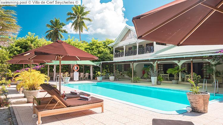 swimming pool Villa de Cerf Seychelles