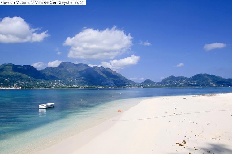 view on Victoria Villa de Cerf Seychelles
