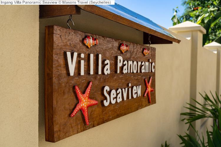 Ingang Villa Panoramic Seaview Masons Travel Seychelles