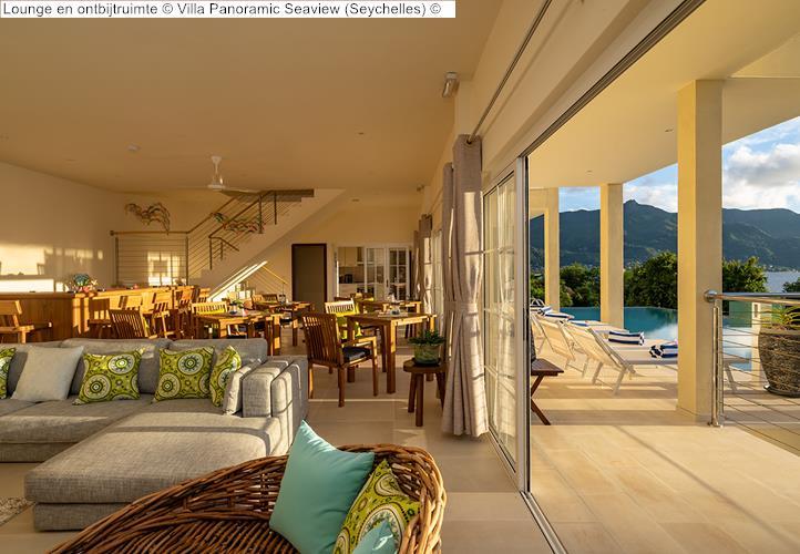 Lounge en ontbijtruimte Villa Panoramic Seaview Seychelles