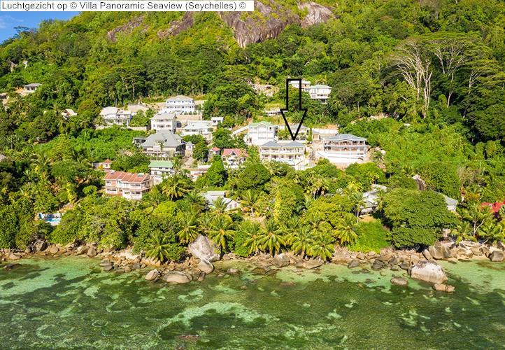 Luchtgezicht op Villa Panoramic Seaview Seychelles