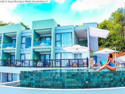buitenzijde Aqua Boutique Hotel Seychelles