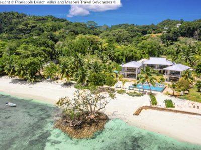 luchtgezicht Pineapple Beach Villas and Masons Travel Seychelles